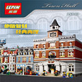 Lepin 15003 2859 PCS City Creator Town Hall Sets Model Building Kits Minifigure Blocks Compatible With