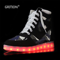 LED Women Casual Shoes Girls LED Shoes for Adults Luminous Flats Walking FlatsTrainers High Top Fashionable