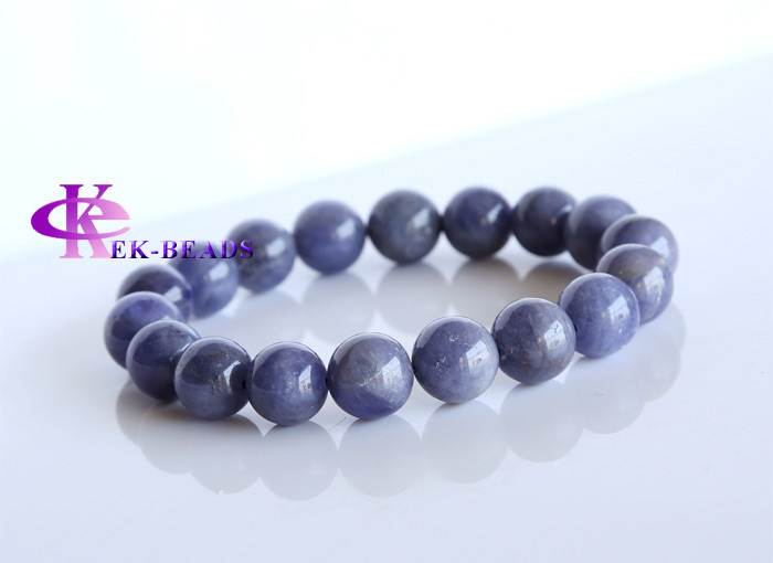 Free shipping Discount Wholesale Natural Genuine Blue Tanzanite Finished Stretch Mens Bracelets Round beads 11mm 02951<br><br>Aliexpress