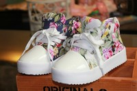 Fashion Children Sneaker Side Part Flower Floral Individuality Baby Kids Canvas Shoes Children shoes