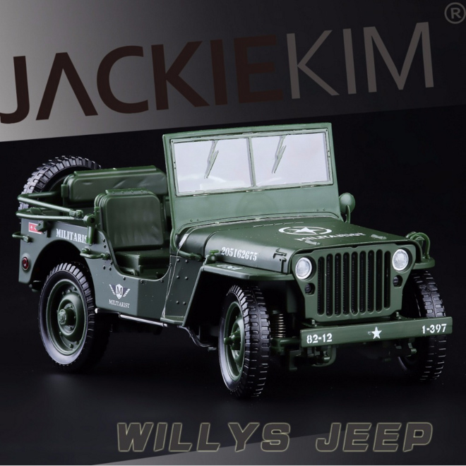 1:18 Alloy Tactical Military Model Jeeps Car Old World War II Willis Military Car Vehicles For Childen Toys Gifts(China (Mainland))