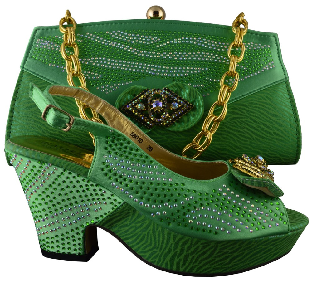 Green Kitten Heel Shoes