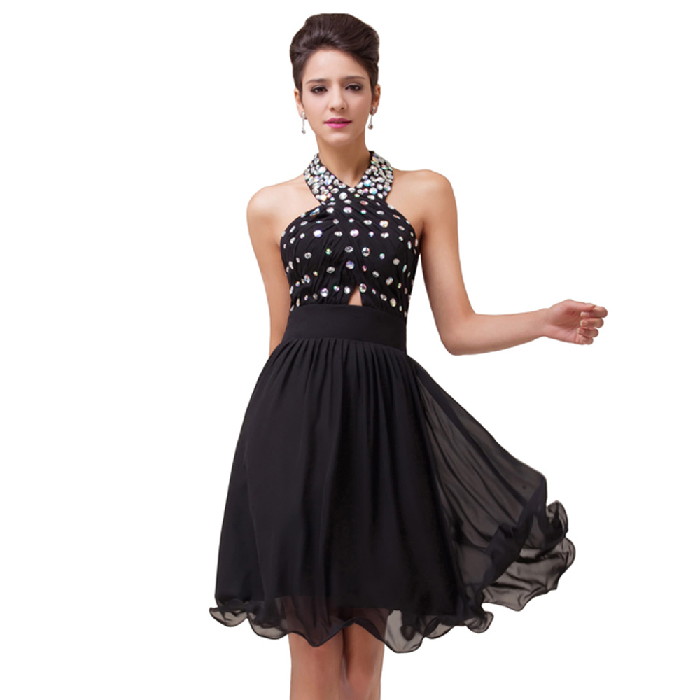Free Shipping Knee Length Cocktail Dress Chiffon Cocktail