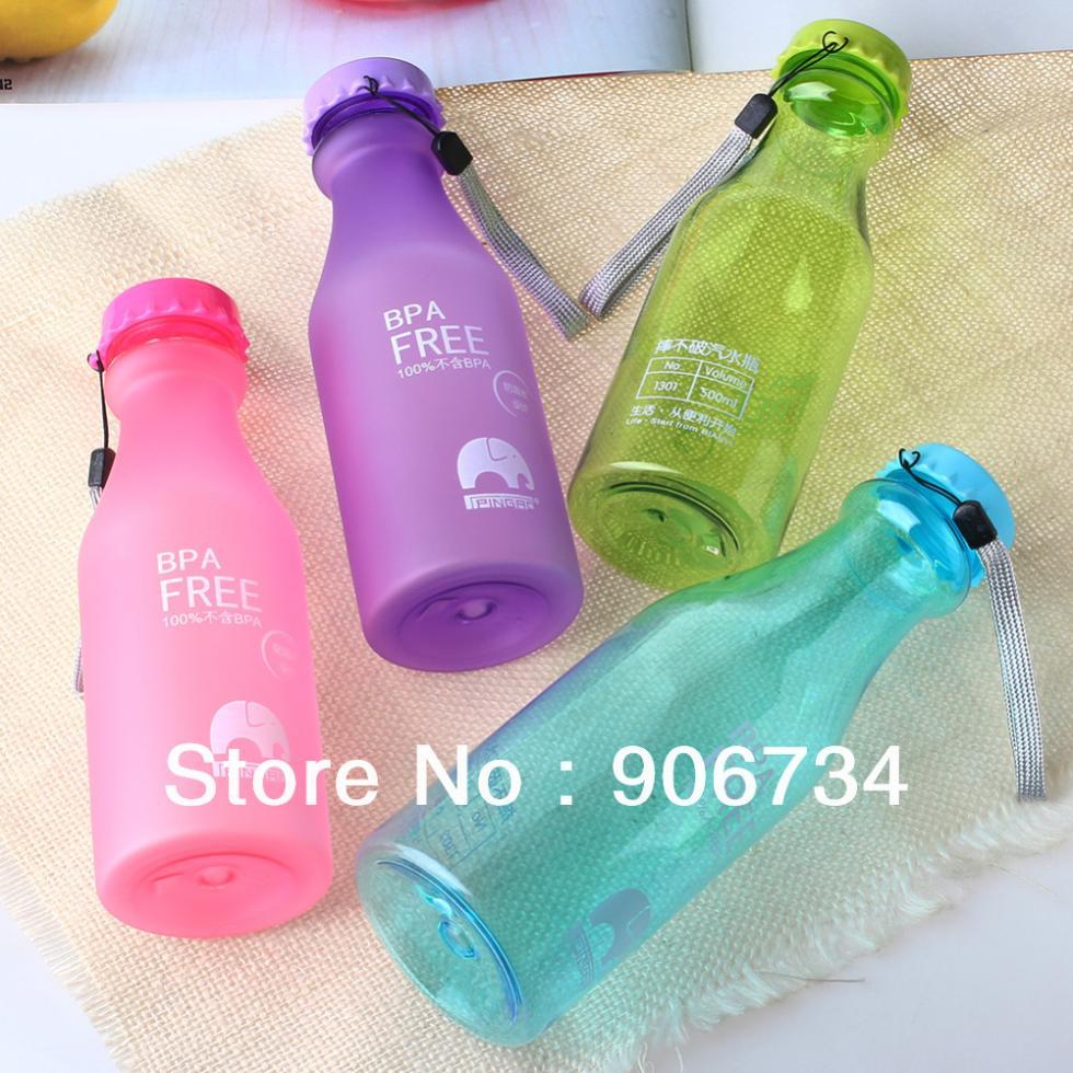 New Free Shipping 4PCS/Set Promotional Portable Leak-proof Unbreakable Sport Travel Water Bottle(China (Mainland))
