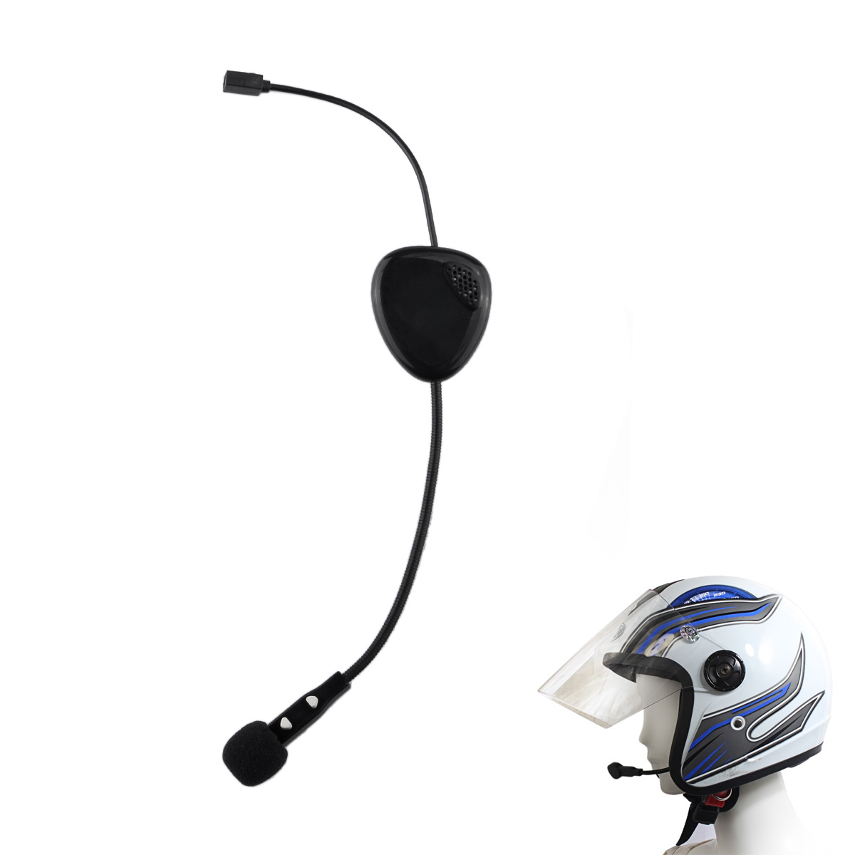 motorcycle helmet bluetooth mono handsfree headphones headset mp3 music wireless for iphone. Black Bedroom Furniture Sets. Home Design Ideas