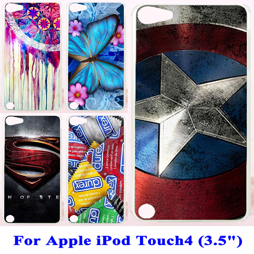 Hard Plastic Cover Cases For Apple iPod Touch4 touch 4 3.5 inch Case Cover For ipod touch 4 cases Back Housing Cover Phone Shell(China (Mainland))