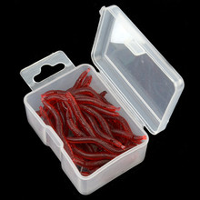 Available QIUYIN 17pcs/box fishing lures soft lures Fishing Tackle plastic worm brown color 0.1g