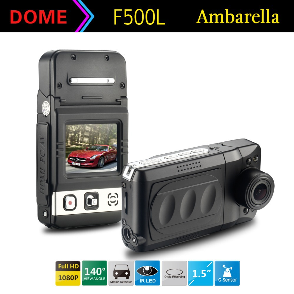 Top Sell!Ambarella Car DVR MINI F500L Full HD real 1080P 30fps 1.5 inch LCD CMOS 5.0MP Camera Camcorder 140 Degree HDMI Russian - Shenzhen Dome Technology Co.,Ltd.Store1 store