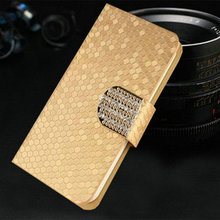 Luxury PU Leather Case Cover for Samsung Wave Y S5380 GT-S5380 Flip Phone Bags With Stand Function Free Shipping