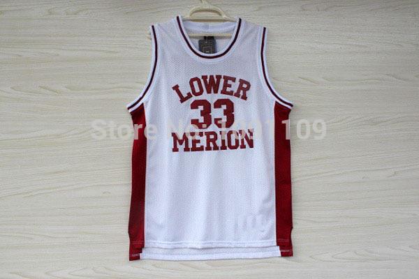 Free Shipping/Hot Sale/Newest Arrival!!! Kobe Bryant High School Jersey, Cheap Kobe Bryant 33 Lower Merion Mesh Basketball Jerse(China (Mainland))