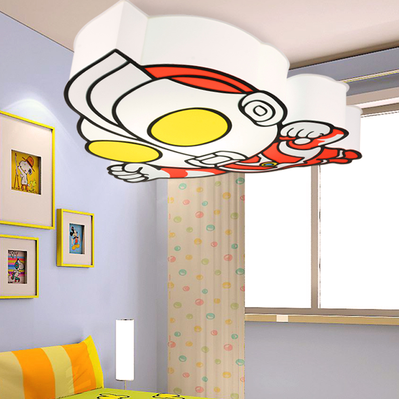 Free shipping super man ultraman child light cartoon lamp for Kids ceiling lights for bedroom