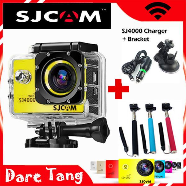 Original SJCAM SJ4000 WIFI Action Camera Diving 30M Waterproof Camera 1080P Sport Camera Sport DV+1 monopod+1 charger+1 bracket