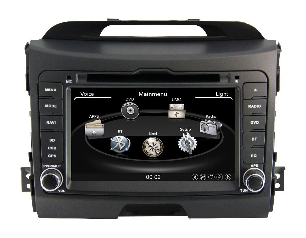 Manufacturer 2 Din Car DVD Player Radio gps navigation for kia sportage 2015(China (Mainland))