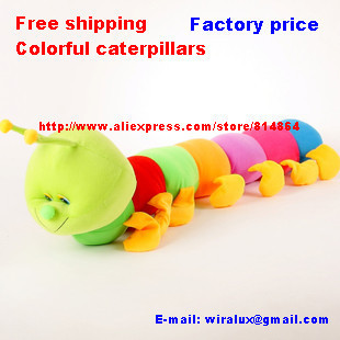 Factory price Fee shipping 100cm Colorful caterpillars millennium bug doll plush toys large caterpillar hold pillow doll