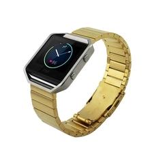 Luxury 23mm Stainless Steel Watchbands For Fitbit Blaze Smart Fitness Tracker Watch Strap 23mm Link Bracelet