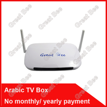 2016 cheapest box iptv arabo, scatola grande ape scatola tv araba, trasporto  Libero nessun canone mensile arabo supporto tv box 400 hd arabo  Canale(China (Mainland))