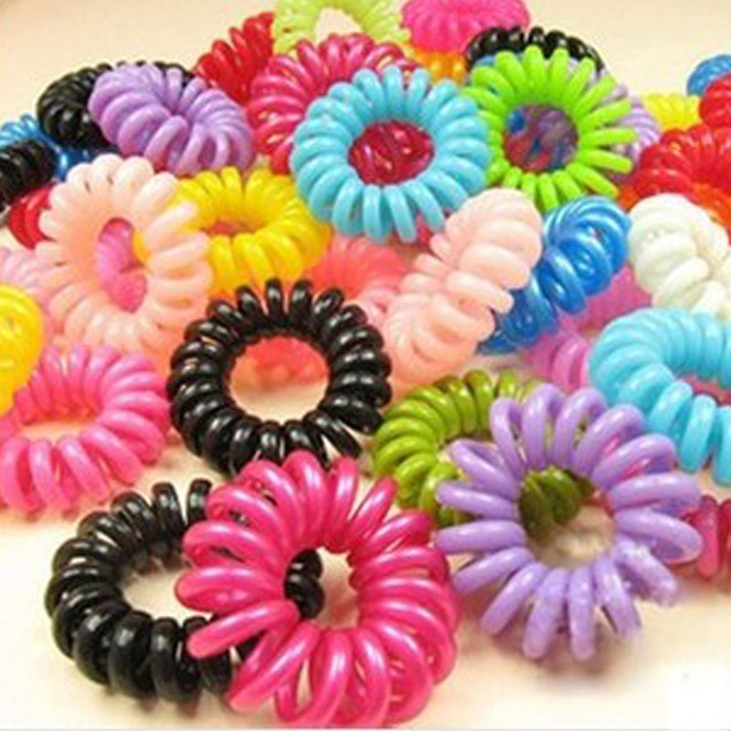 30pcs Hot Selling Girl Hair Accessories Mulit-Color Elastic Headband Head Ties Hair Ornaments Scrunchy Telephone Wire(China (Mainland))