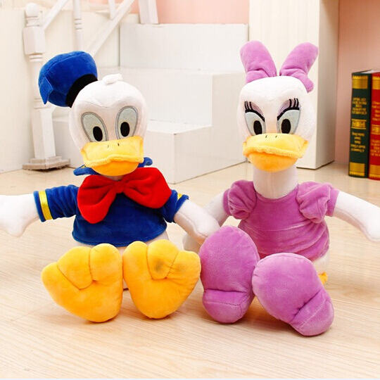 "2pcs 12"" 30cm Genuine Donald Duck Daisy Duck doll plush toy children's gifts christmas gift free shipping(China (Mainland))"