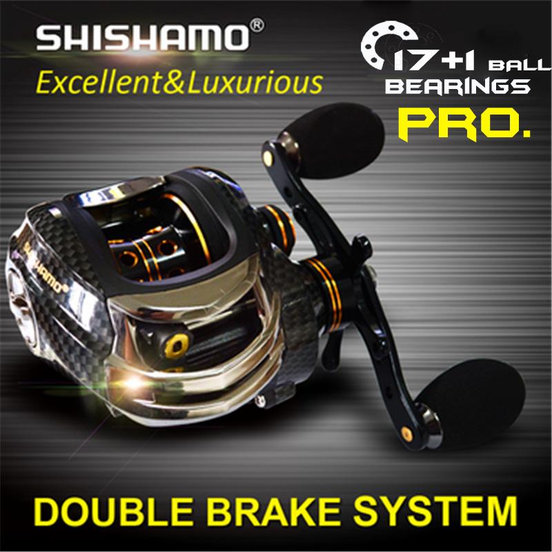 Professional Double Brake Baitcasting Reel Fishing reel 18 BB 6.3:1 Water Drop Wheel Bait Casting Lure Reel Carretilha Peche(China (Mainland))