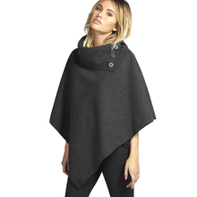Winter Women Solid Oversize Wool Cape Coat Turtleneck Loose Pullover Top Femme Ladies Oversize Black Batwing Poncho Cloak Jacket(China (Mainland))