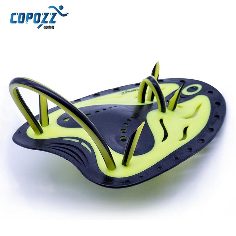 COPOZZ Adjustable Silicone Hand Swimming Trax Paddles Fins Flippers Webbed Training Pool Diving Gloves padel Aletas Men Women(China (Mainland))