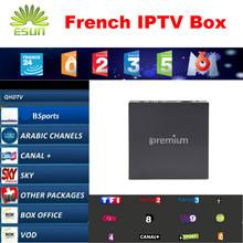 Mejor Ipremium IPTV Caja con 900 + Francés NEOTV IPTV Árabe I9 Tv de Pago y VOD de AR FR EE. UU. taquilla Más Rápido Mag250 mag254 con Dearm tv