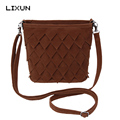 LIXUN American Style Women Crossbody Bags Vintage Velour Sling Shoulder Bag Messenger Handbags sac a main