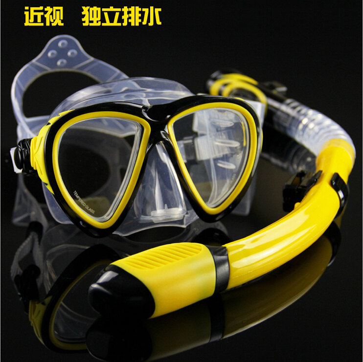 Can Configure The Myopia Diving Mask Edible Silicone Snorke Full Dry Breathing Tube Equipamento De Mergulho Swimming Goggles(China (Mainland))