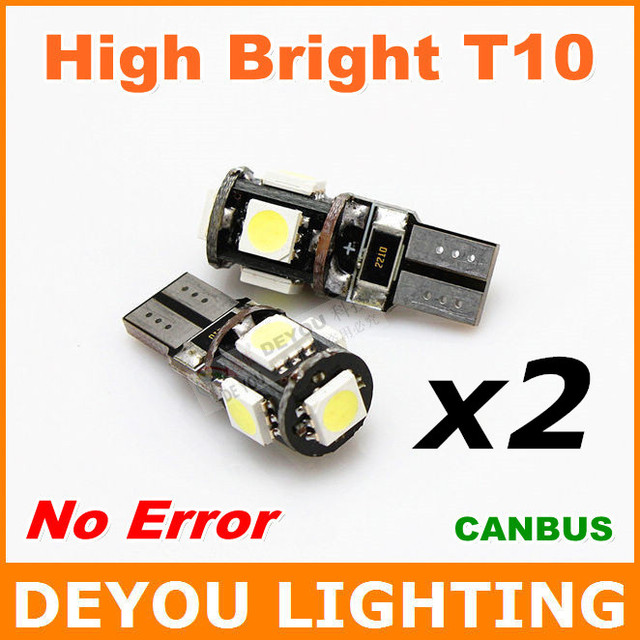 4pcs/lot No Error Canbus 194 LED Light Bulb replacement W5W 168 2825 T10 Wedge For Car Signal Trunk Parking Interior Lights