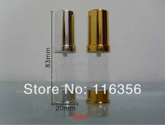 10ML gold/siver   airless  lotion bottle or vacuum with airless pump<br><br>Aliexpress