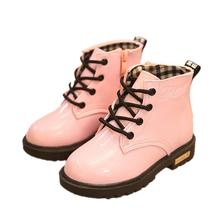 Size 21-35 children boots shoes boys girls martin boots fashion kids artificial leather child snow boots shoes boys rainproof(China (Mainland))