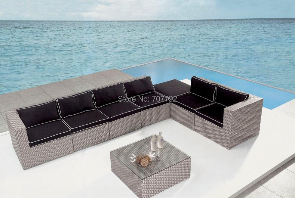 2015 Hotel Used Rattan Patio Furniture Outdoor Rattan Sofa set(China (Mainland))