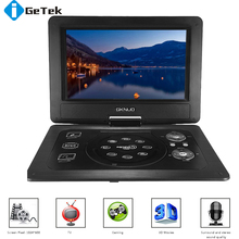 GKN-101 Home Portable DVD Player Portatil 10. 1 Inches 16:9 TFT Screen 1024 * 600 Pixe Support SD USB For Gamepad DVD / CD / MP3(China (Mainland))