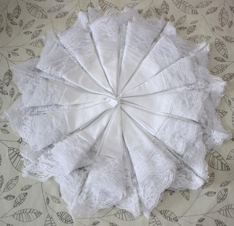 12 Pieces 100 Cotton Womens White Lace Handkerchiefs Pocket Square Vintage Hankies Women's Ladies Soft Lace Handky(China (Mainland))