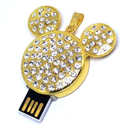 diamond jewelry BearMickey Mouse usb pen drive crystal 4gb 8gb 16gb 32gb usb flash drive memory Stick flash drive shipping()