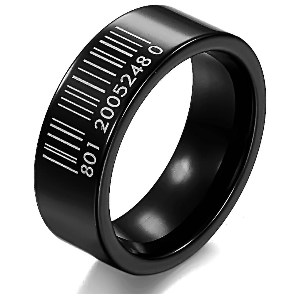 Mens Wedding Engagement Rings Big Fingers Ring Luxury Brand Black Ceramic Jewelry Fashion Items