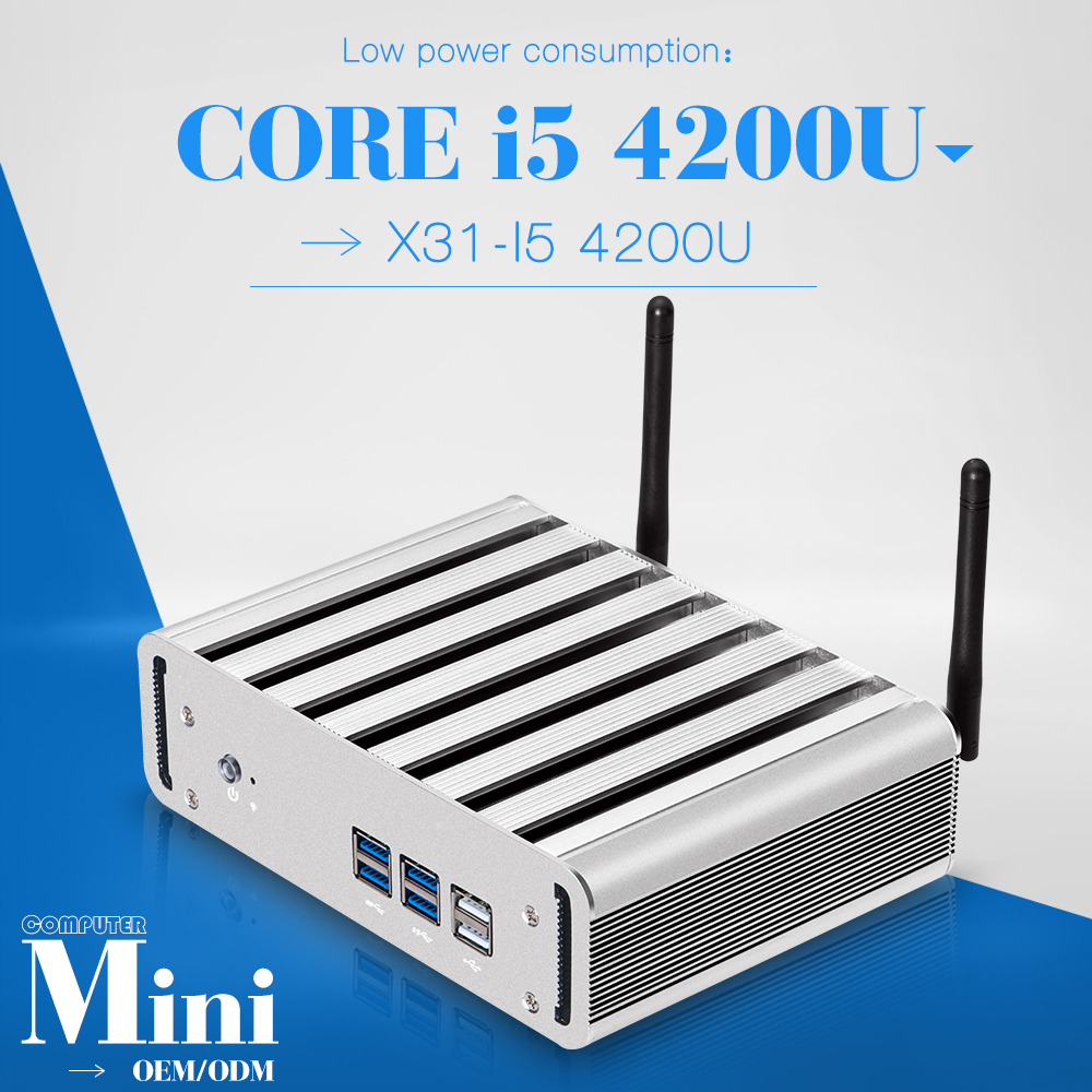 Low price and best quality core i5 4200u or more mini pc for x31-i5 terminal embedded pc host pc support outdoor printer(China (Mainland))