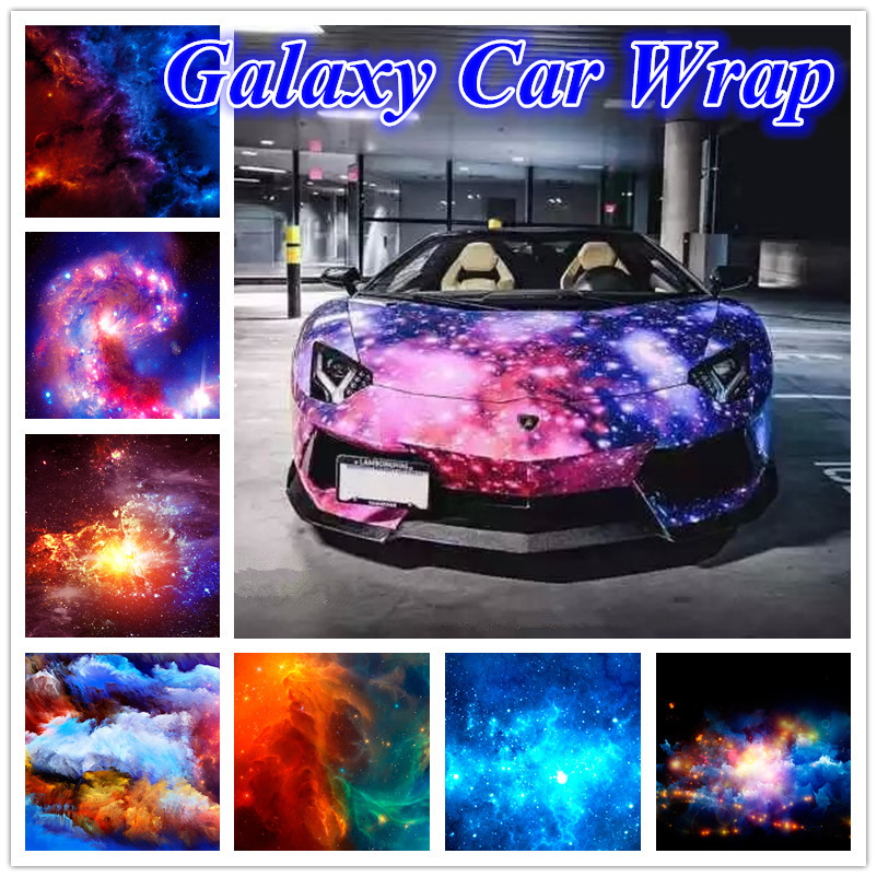 wholesale galaxy car sticker starry vinyl wrap roll interior external decoration for car. Black Bedroom Furniture Sets. Home Design Ideas