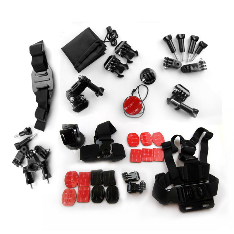 Gopro Accessories 33 Set Combination Hero 4 3+ 2 Multi-purpose Of Wearing A Chest Belt For Xiaomi Yi Gopro camera