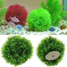 A96  Artificial Aquatic Plastic Plants Aquarium Grass Ball Fish Tank Ornament Decor(China (Mainland))