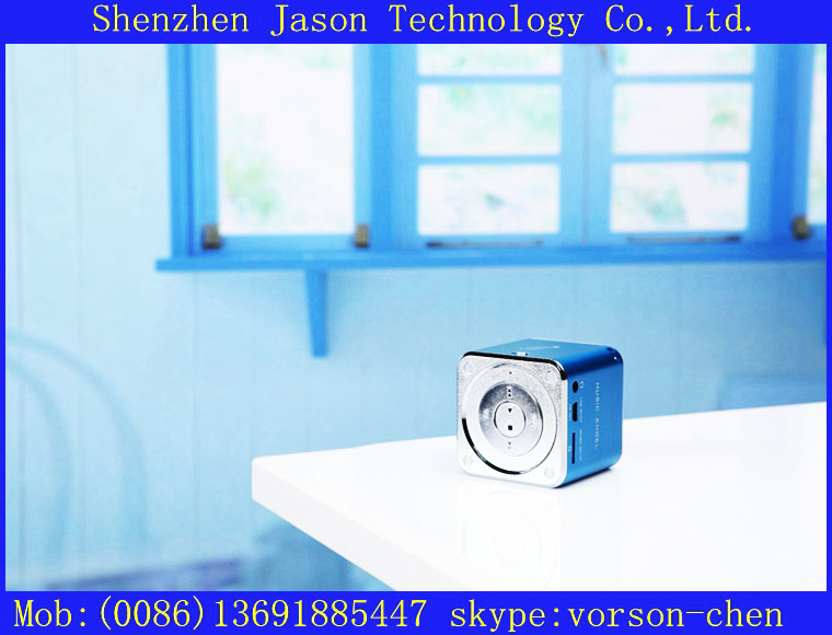 portable mini speaker with fm radio music angel jh-md07d for samsung galaxy s3(China (Mainland))