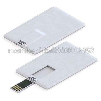 DIY Blank Plastic Credit Card Size 2GB/4GB/8GB/16GB USB Flash Memory Disk Drive,OEM Blank Business Name Card Style USB Pen Drive
