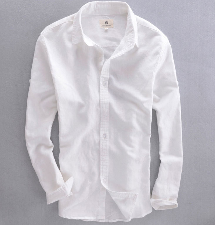 Mens white button down shirt long sleeve is shirt for Mens long sleeve white t shirt
