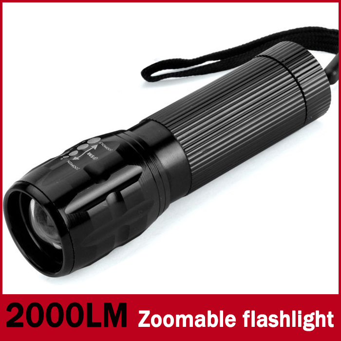 73% OFF 1pcs MINI 2000Lumens LED Flashlight Camping hiking fishing hunting cycling highlighted Torch laser Lamp Light Zoomable(China (Mainland))