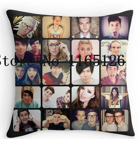 Two sides printing funny Friends Love YouTube Pillow Cases for12 ''14'' 16'' 18'' 20'' 24'' inch free shipping(China (Mainland))