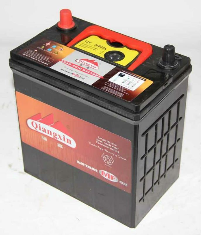 12v 38b20l mf car battery in jump leads from automobiles motorcycles on. Black Bedroom Furniture Sets. Home Design Ideas