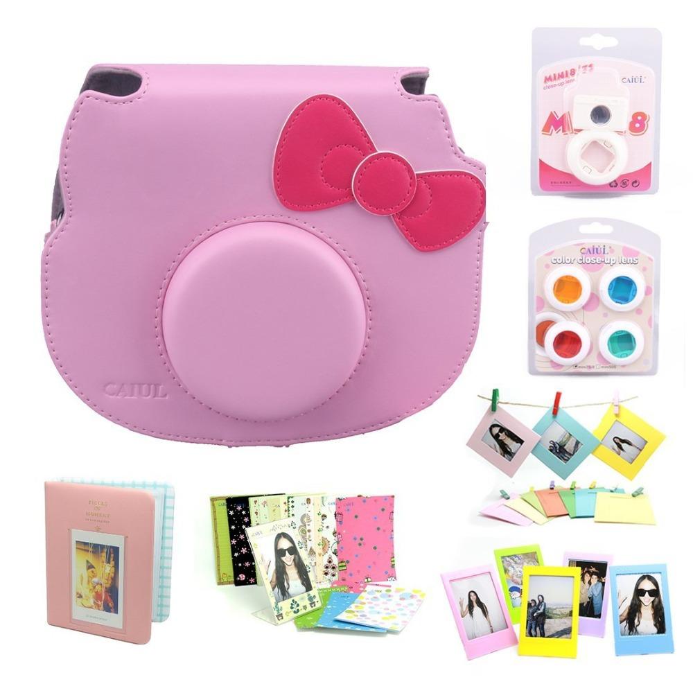 Fujifilm Instant Camera Cheki Instax Mini PU Bag INS MINI KIT Accessory Bundles Set-pink set<br><br>Aliexpress