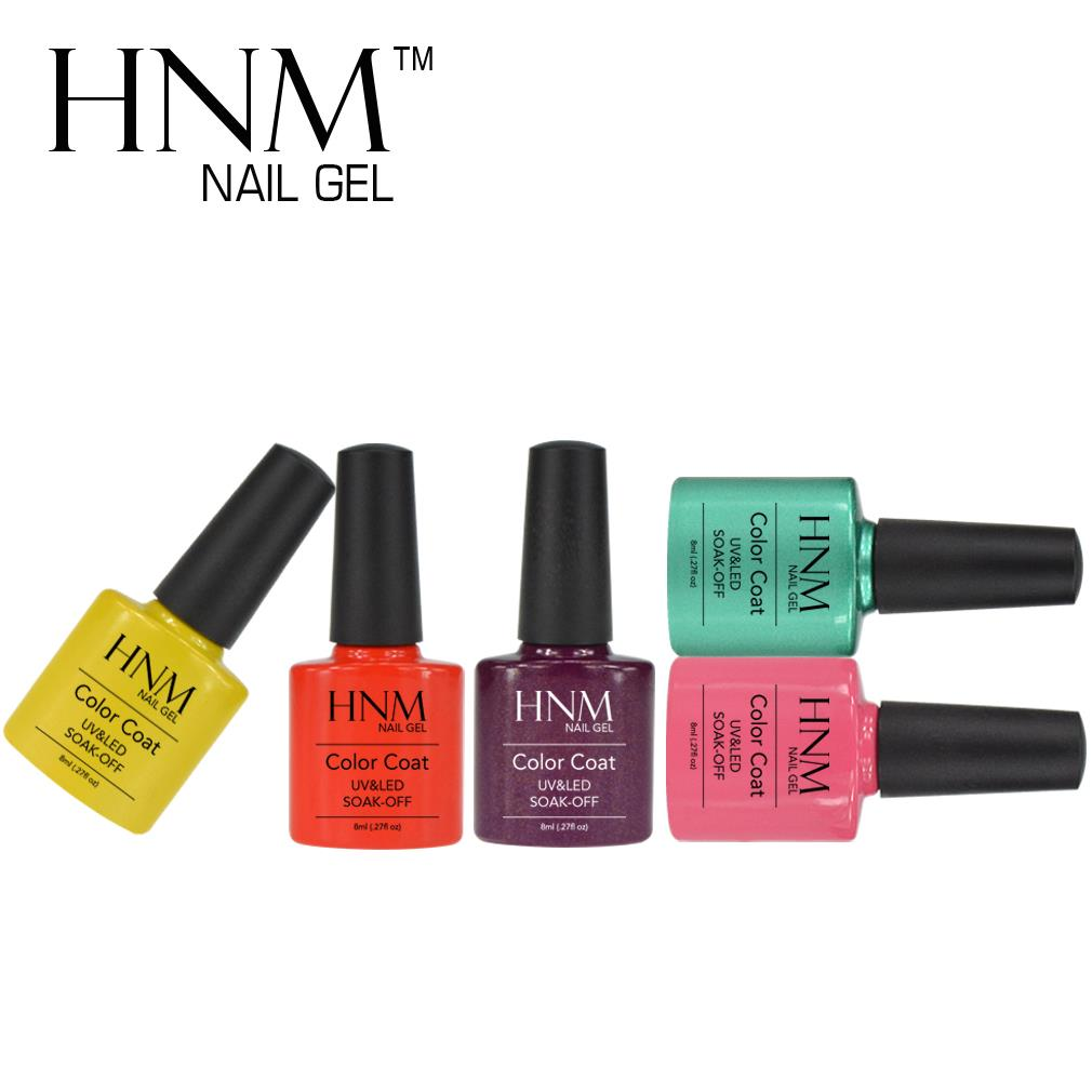 HNM UV LED Nail Gel Polish Top Base Coat Needed High Quality Gel Lacquer Nice Soak Off Good for Fingernail(China (Mainland))
