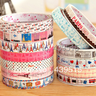 drop shipping china 10pcs one pack printed tape colored duct tape for washi tape project<br><br>Aliexpress
