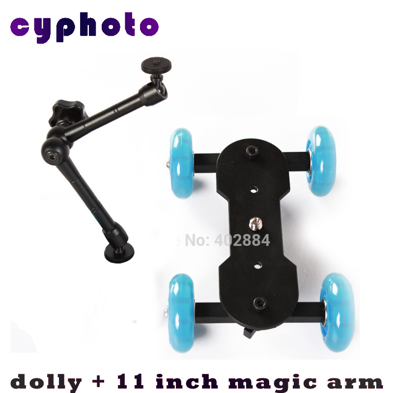 photography equipment dolly + 11 inch magic arm mute<br><br>Aliexpress